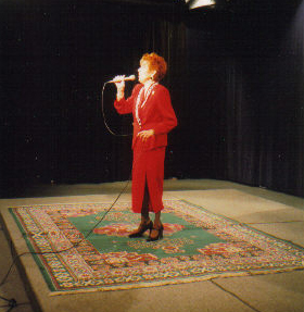 Joan performing on the Cathi Watson TV Show